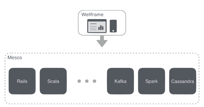 Figure 1: Wellframe care management dashboard and patient mobile application.