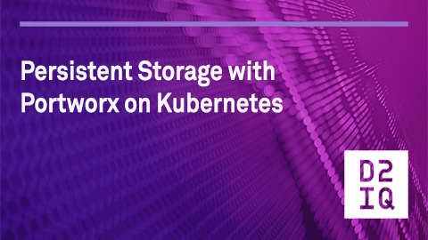 Persistent storage with Portworx on Kubernetes