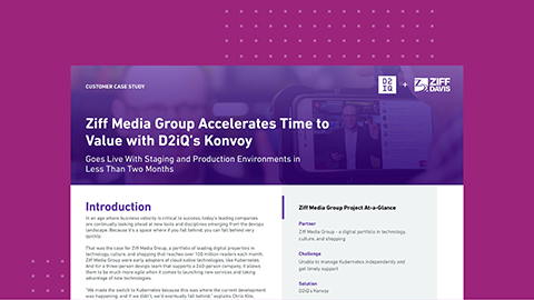 Ziff Media Group Accelerates Time to Value with D2iQ's Konvoy