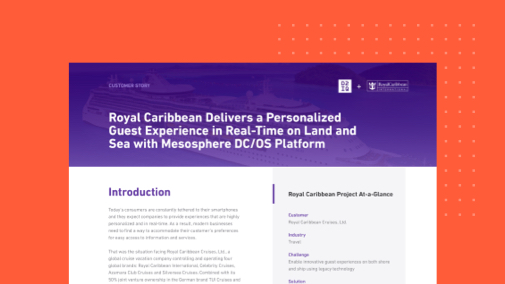 Royal Caribbean Delivers Real-Time Microservices to the Open Seas