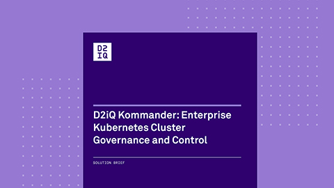 Kommander: Enterprise Kubernetes Cluster Governance and Control