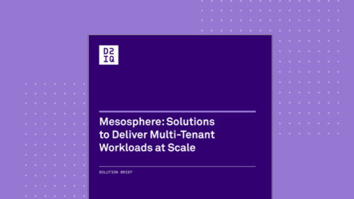 Mesosphere: Solutions to Deliver Multi-Tenant Workloads at Scale